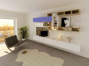 01. TV bois, blanc et couleur