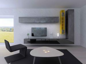 09. TV gris et jaune